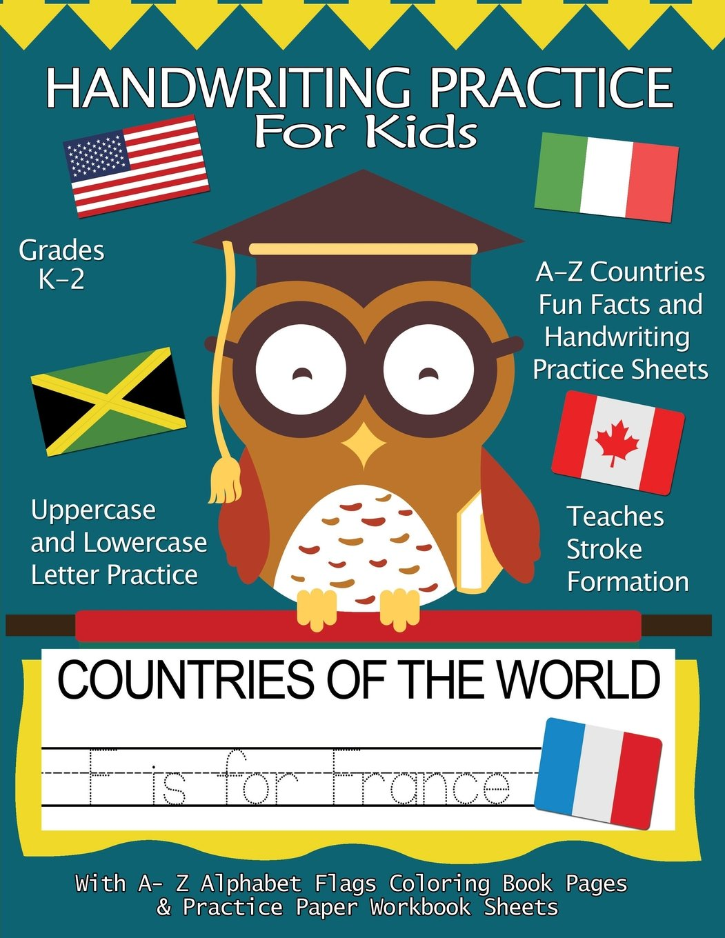 Handwriting Practice For Kids : Countries of the World With Workbook ...