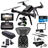 3DR Solo Drone Quadcopter + 3D Robotics GB11A 3DR Solo Gimbal + PP11A 3DR Solo Propeller Set + 3DR Protective Backpack Case + Lexar microSDHC 633x 32GB UHS-I/U1 + Polaroid Camera Cleaning Kit Bundle