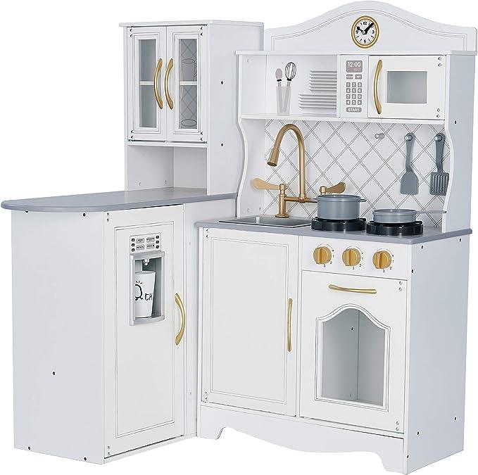 Teamson Kids- Teamson Niños - Little Chef Marsella Retro del Juego de la Cocina - Blanco TD-13119D, Color: Amazon.es: Juguetes y juegos