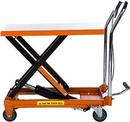 Carro con plataforma elevadora, 300 kg, hidráulico: Amazon.es ...