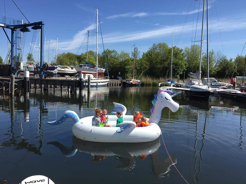 New Wave Swim Buoy WAVETM Piscina y Barco Hinchable Gigante con ...