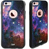 iPhone 6 Case - iPhone 6S Case Black Nebula Galaxy [Dual Layered Hybrid] Protective Commuter Case for iPhone 6S Black Case by Unnito