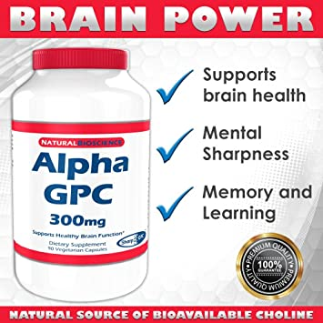 Amazon Com Alpha Gpc 300mg Choline Supplement Powerful Nootropic