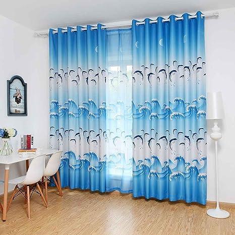 LUFA Tende da finestra Cute Delfino Blackout Pannello di tende per ...