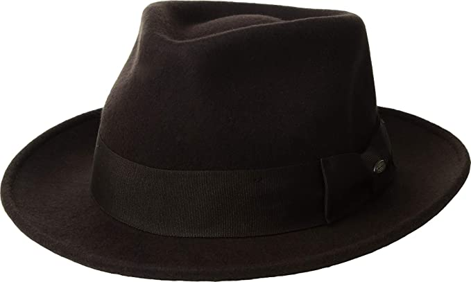 Image Unavailable. Image not available for. Color  Scala Classico Men s  Wool Felt Fedora with Grosgrain Hat ... 8fd9731e498c
