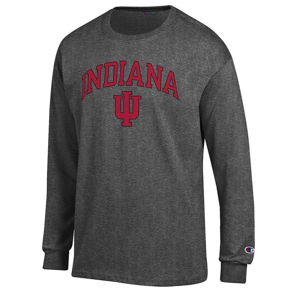 Indiana Hoosiers Charcoal XXLarge NCAA Mens NCAA Long Sleeve Shirt Team color Arch