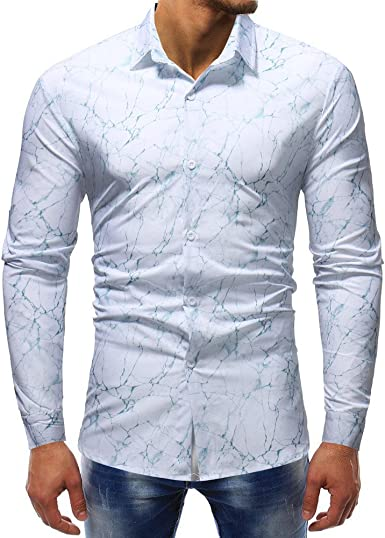 Winwintom -Camisas Hombre Camisa para Hombre, Manga Larga ...