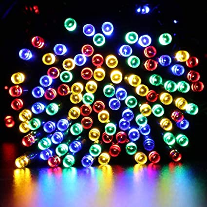 qedertek solar string lights 72ft 200 led fairy christmas lights 8 modes ambiance lighting for