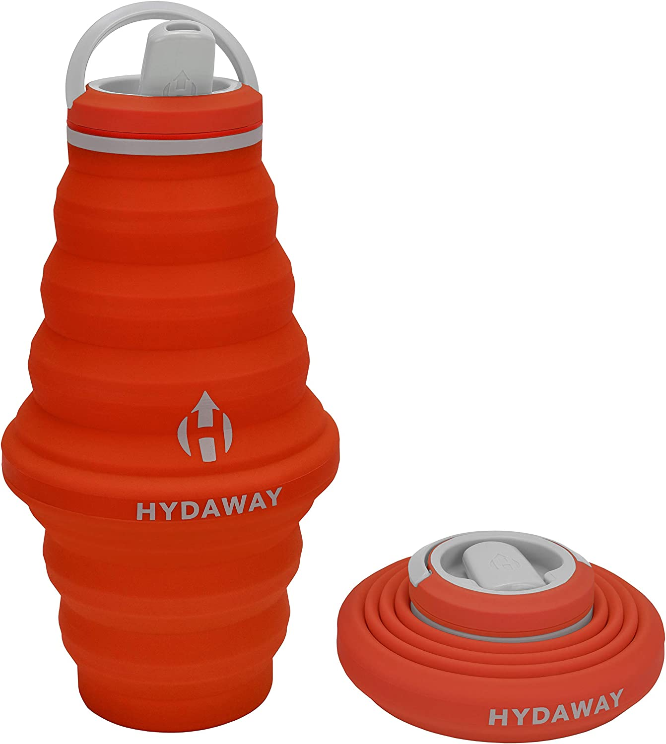 HYDAWAY Collapsible Water Bottle, 25 oz Spout Lid | Ultra-Packable, Travel-Friendly, Food-Grade Silicone
