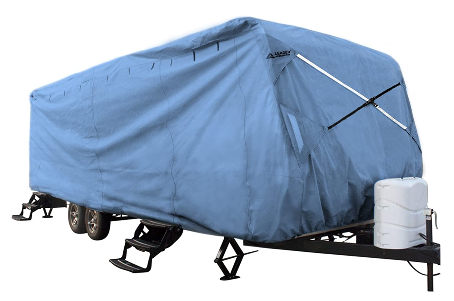 Leader Accessories Green Travel Trailer RV Cover Fits 24'-27' Trailer Camper 3 Layer Polypro