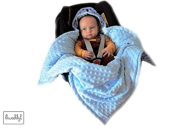 SWADDYL Bebé, niño envolver manta, para Silla de coche, cochecito, grupo 0, Maxi-cosi, Peg-Pérego, saco, recién nacido, MINKY Afelpado y algodón, ...