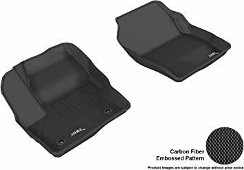 3D MAXpider Complete Set Custom Fit All-Weather Floor Mat for Select Ford Escape Models Kagu Rubber Black