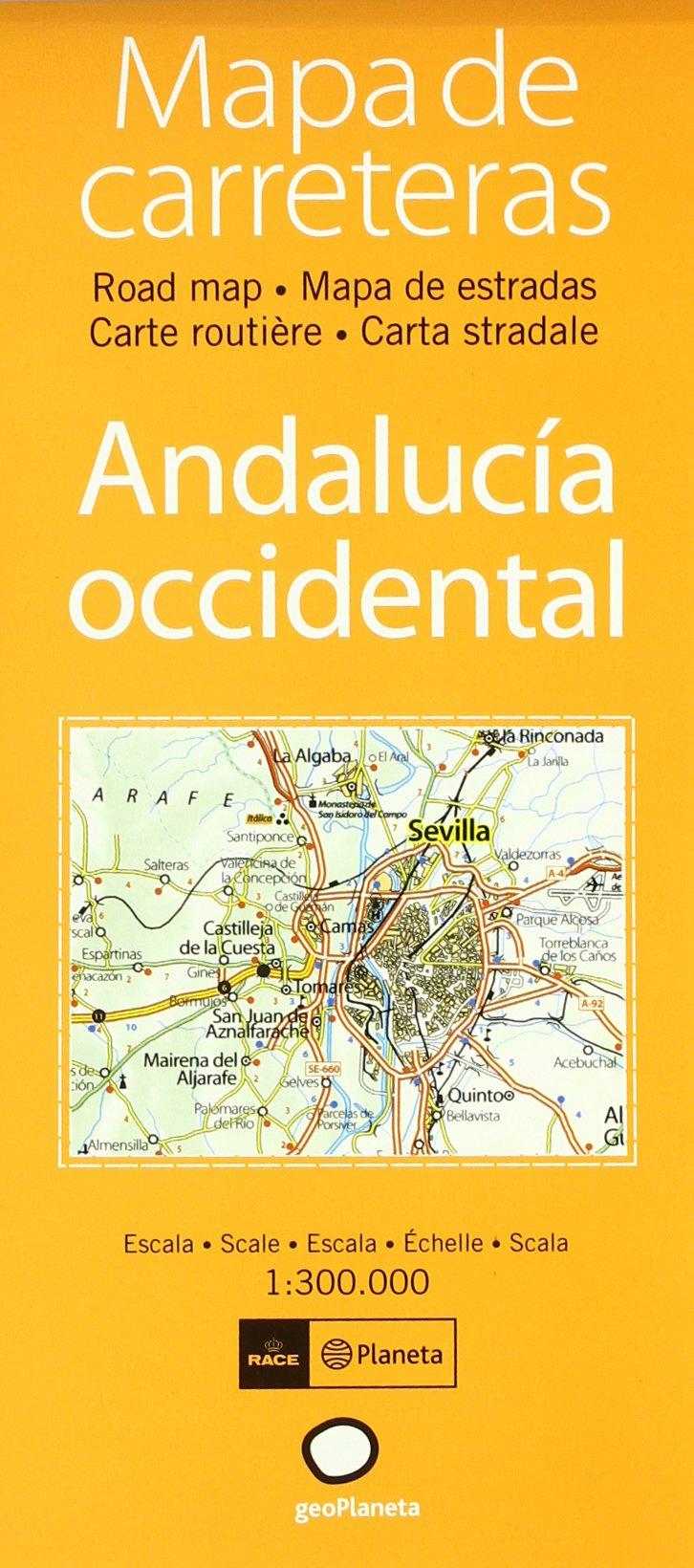 Buy Mapa De Carreteras Andalucia Occidental Atlas Book Online At