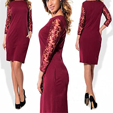 Floral Lace Plus Size Dress Women Clothing Elegant Office Party Big Large Size Dress Vestidos 5XL