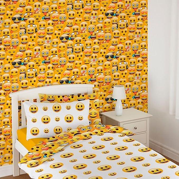 Debona Emoji Yellow Wallpaper WP4-EMO-JO1-12 Official Kids Childrens Novelty