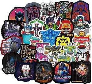 50Pcs Cartoon Transformers Stickers for Water Bottle Cup Laptop Guitar Car Motorcycle Bike Skateboard Luggage Box Vinyl Waterproof Graffiti Patches JKT