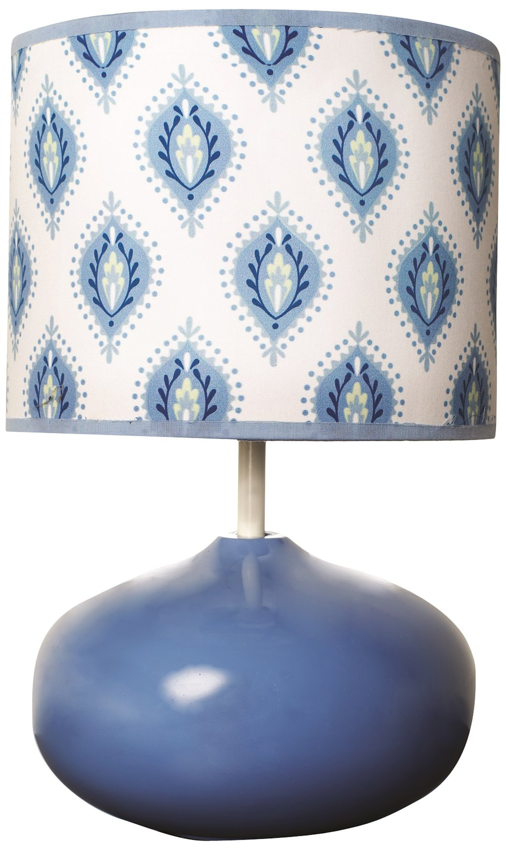 Dena Indigo Lamp Base and Shade, Blue/White (Discontinued by Manufacturer)