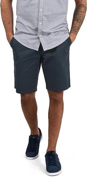 Blend Ragna Chino Pantalón Corto Bermuda Pantalones De Tela para Hombre con Cinturón De 100% Algodón Regular-Fit: Amazon.es: Ropa y accesorios