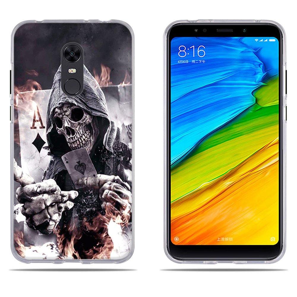 DIKAS Xiaomi Redmi 5 Plus/Xiaomi Redmi Note 5 Xiaomi Redmi 5 Plus Case Transparent Silicon Clear TPU 3D Contemporary Chic Slim Fit Shockproof for Xiaomi Redmi 5 Plus/Xiaomi Redmi Note 5- Pic: 01