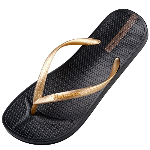 6686a88646aa Hotmarzz Women s Slim Flip Flops Concave Sole Sandals Beach Slippers Shower  Slides Size 4 B(