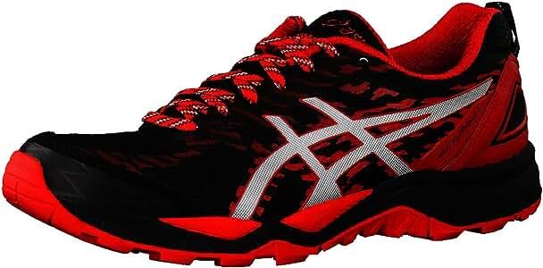 Asics GEL FUJITRABUCO 5 NEGRO ROJO T6J0N 9023: Amazon.es: Zapatos ...