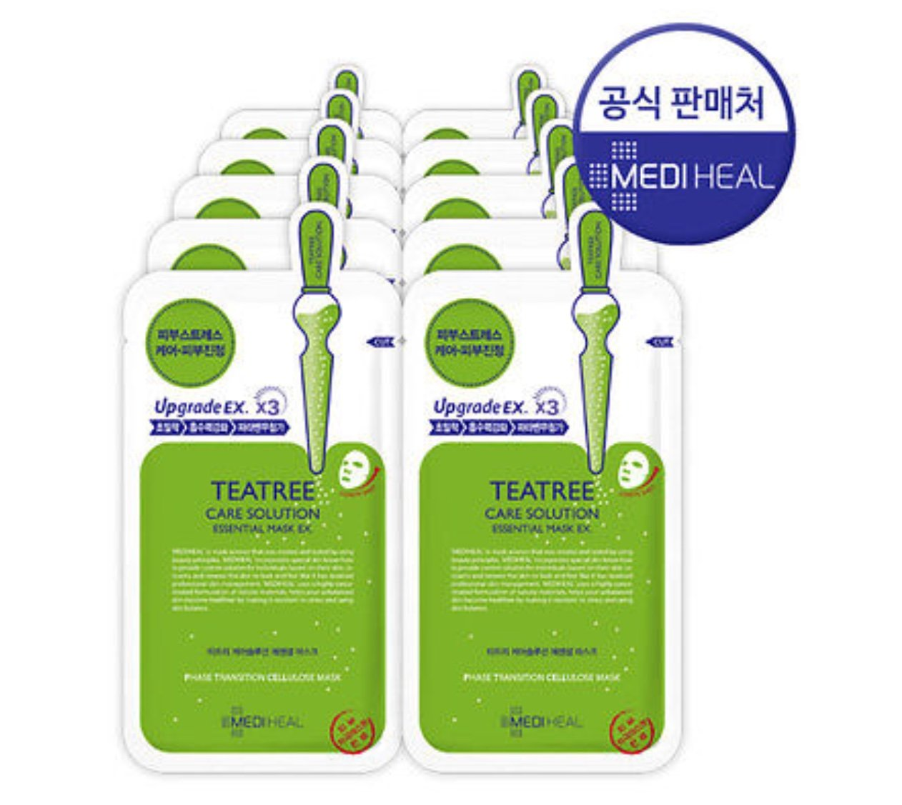 10Pcs MediHeal Teatree Healing Solution Essential Mask Pack Sheets Made in Korea by Mediheal [Korean Beauty]