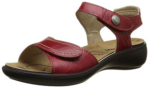 Strap Strap Strap 73 Women's UK Red Red Red 7 Rear Sandals 41 EU ROMIKA Ibiza 5 47fUxwqFRI