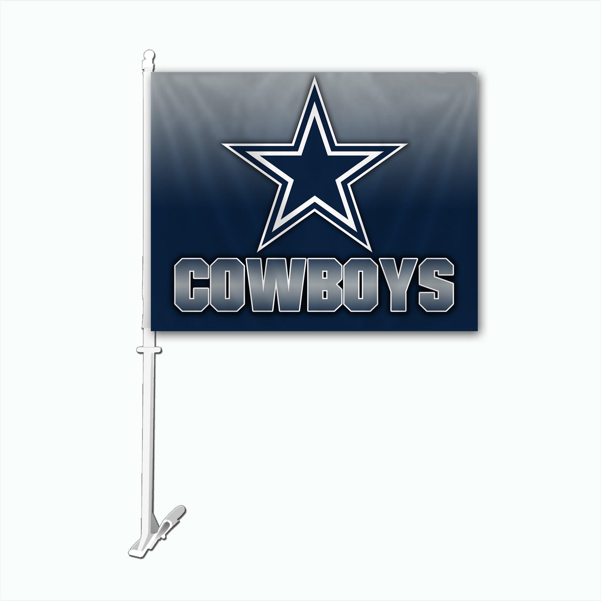 NFL Dallas Cowboys Car Flag with Wall Bracket