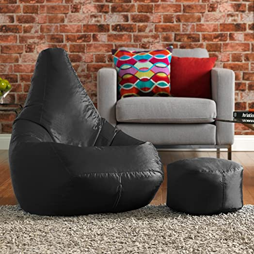 Hi BagZ Bean Bag Chair Matching Footstool Combo