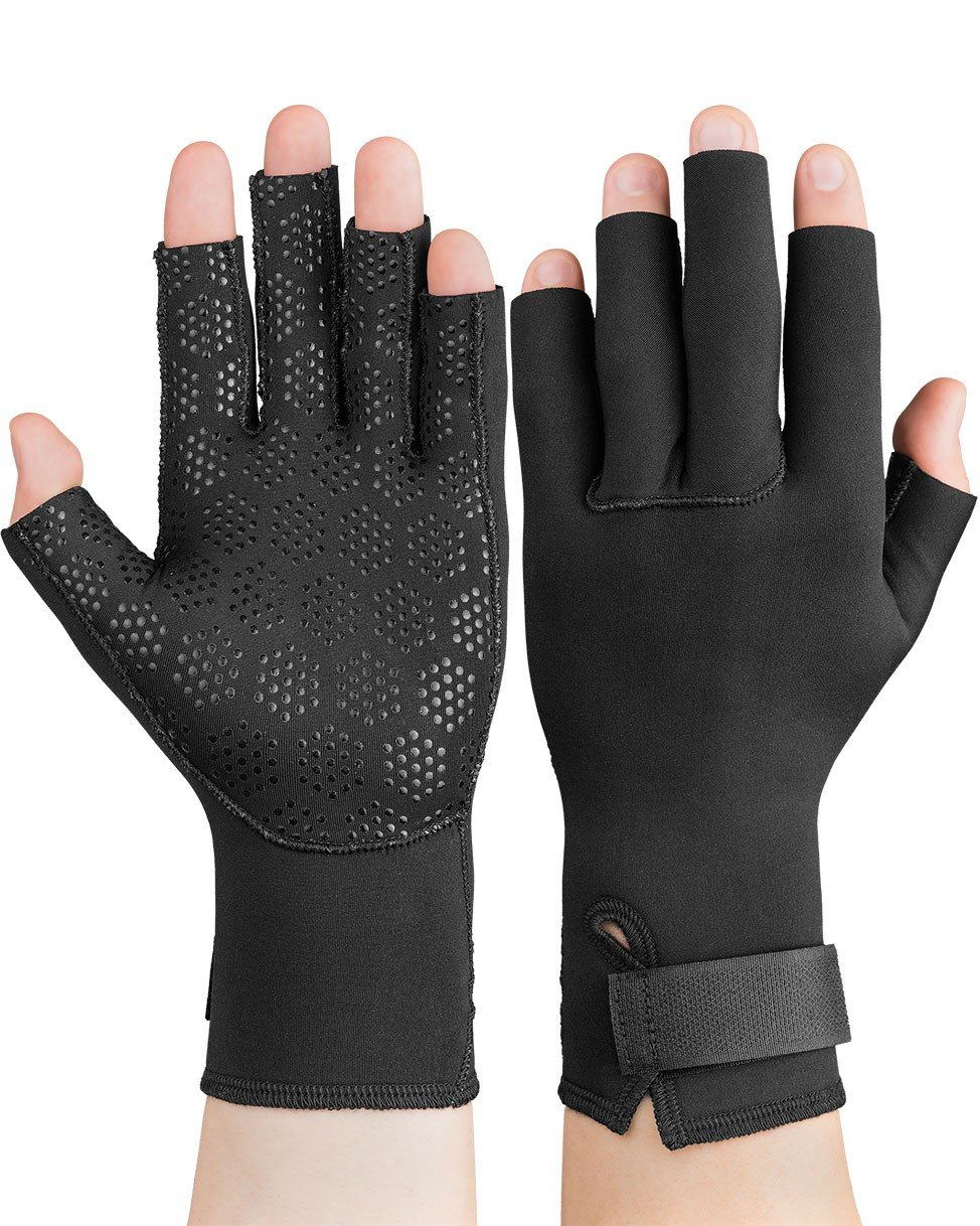 Swede-O Thermal Arthritic Pair Gloves, Black, Small, 0.25 Pound