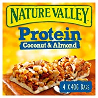 Nature Valley Protein Coconut & Almond Cereal Bars 40g (Pack of 32 bars) (8 packs of 4 bars)