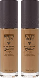 product image for Burts Bees Goodness Glows Liquid Makeup, Rich Caramel - 1.0 Ounce (Pack of 2)