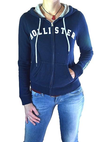 Hollister - Sudadera - para mujer azul oscuro Small: Amazon.es: Ropa y accesorios