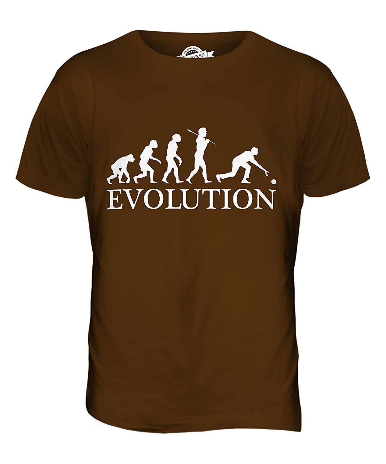 4d9544508 Candymix - Bowls Evolution Of Man - Mens T Shirt Top T-Shirt: Amazon.co.uk:  Clothing