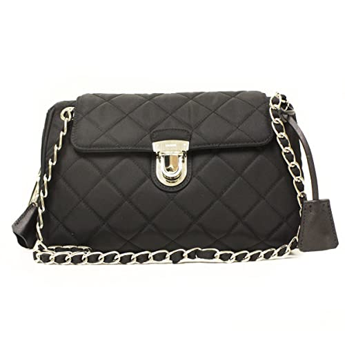 Prada BR4965 Prada Nero Tessuto Saffian Black Nylon Quilted Chain Bag   Amazon.ca  Shoes   Handbags 262d15d85ef9a