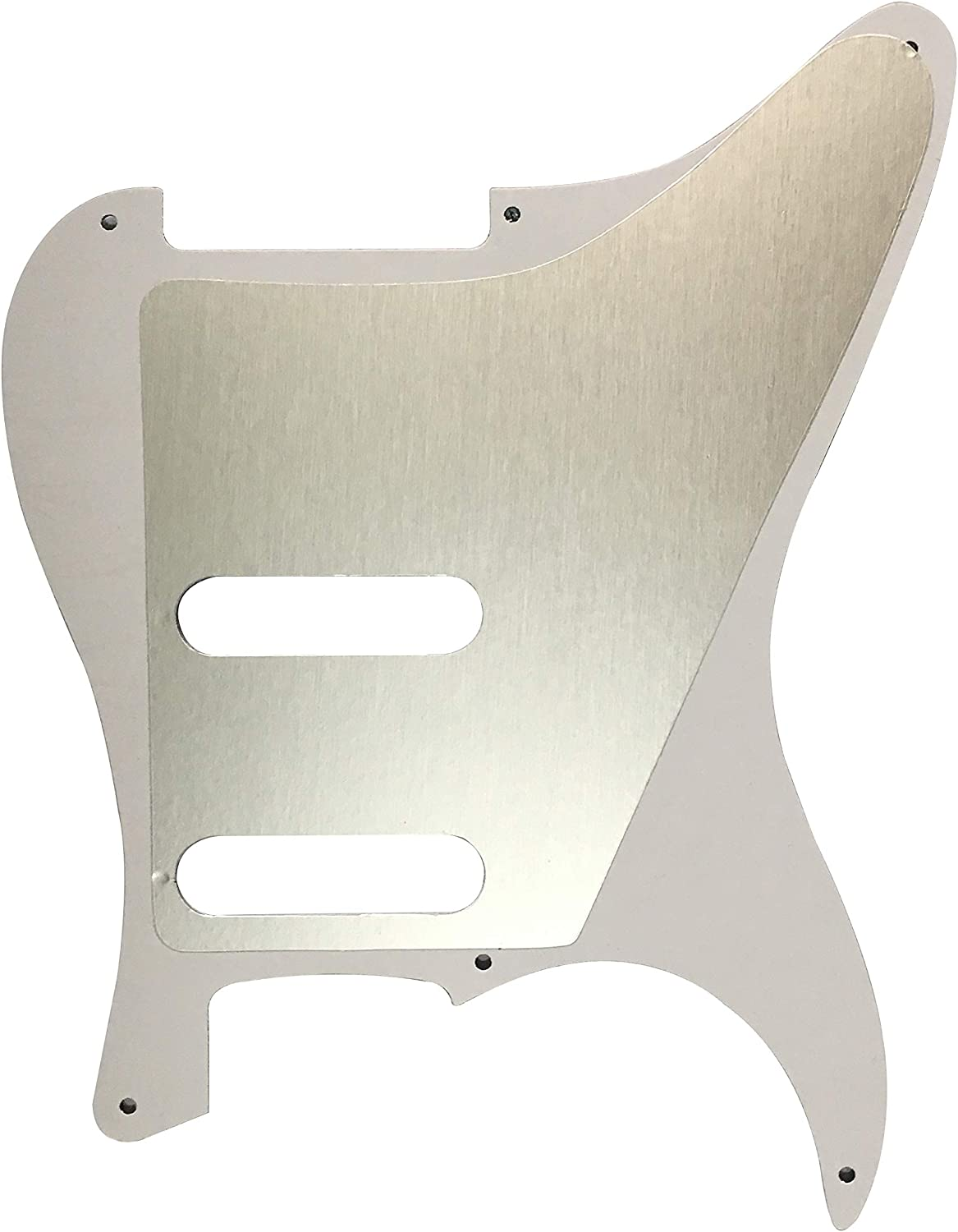 For Strat No Pots With 6 Screw Holes Guitar Pickguard Scratch Plate 3 Ply Black