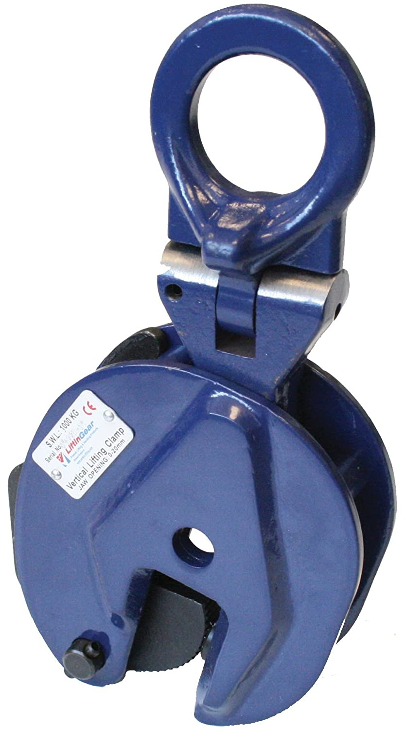 LiftinGear 0.5 tonne Vertical Lifting Plate Clamp 0-15mm SafetyLiftinGear