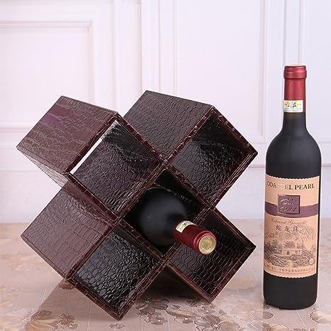 Mdf + Cuero Blanco / Negro / Marrón / Rojo Escritorio Moderno Estante para Vinos Almacenamiento de Botellas de