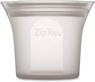 product image for Zip Top Reusable 100% Silicone Food Storage Bags and Containers - Short Cup - Gray