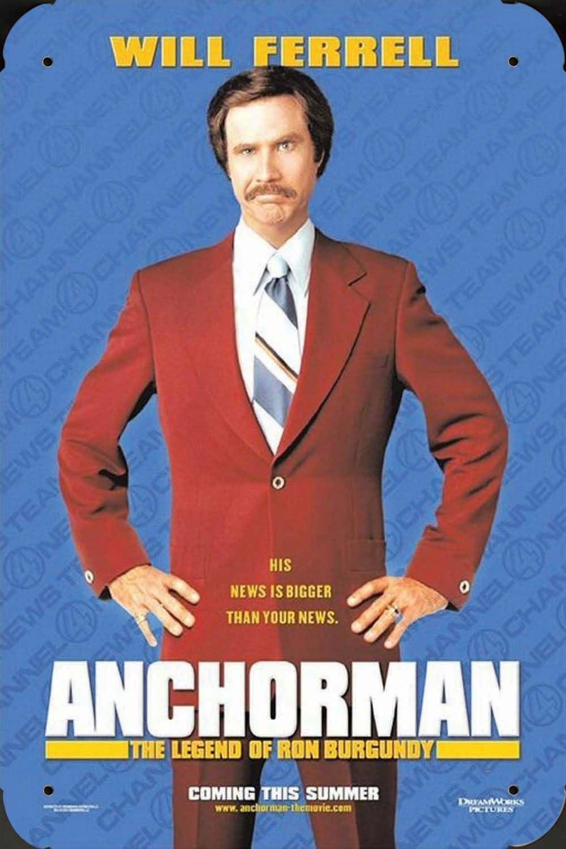 Anchorman pelicula metal poster cartel hojalata signo 20x30cm ...