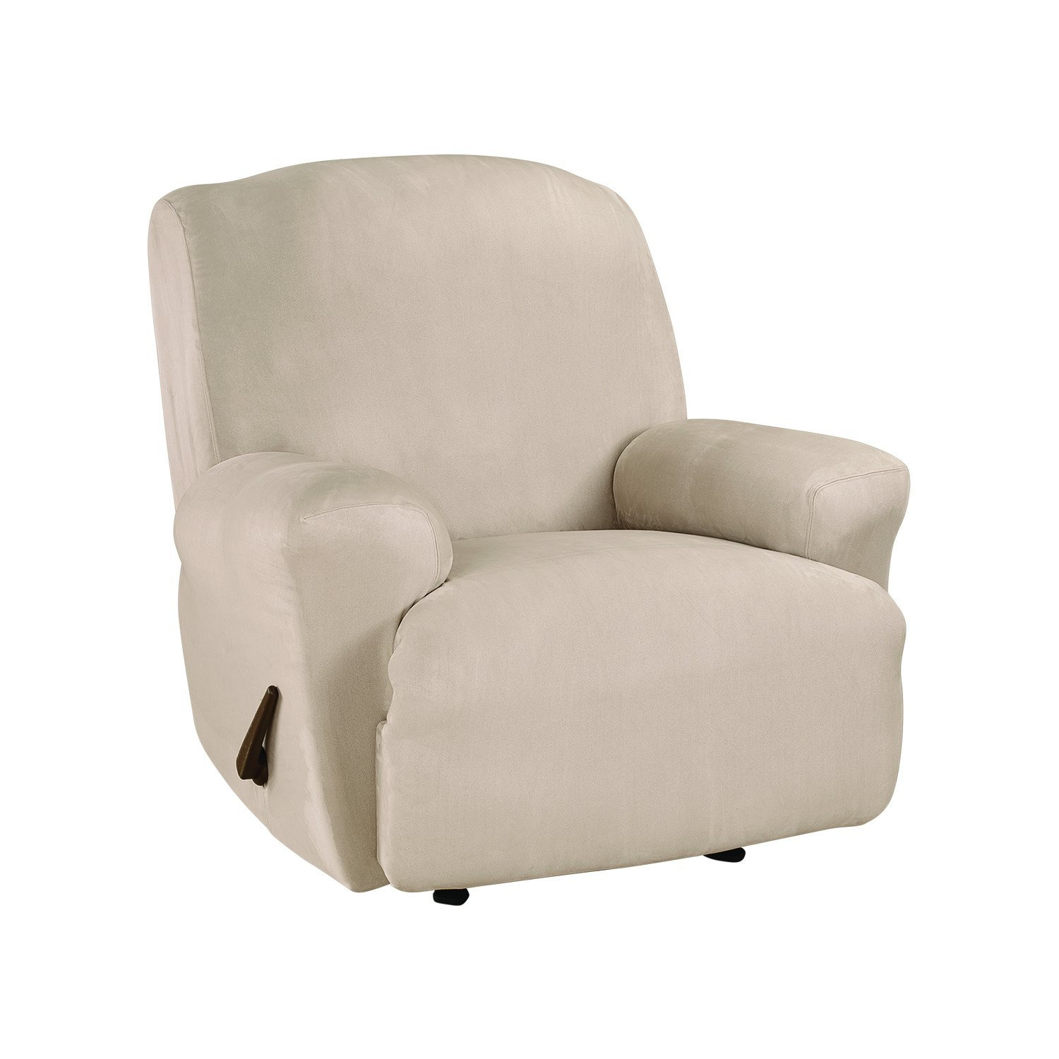 Sure Fit Ultimate Stretch Suede - Recliner Slipcover - Cement (SF45267) Sure Fit Inc.