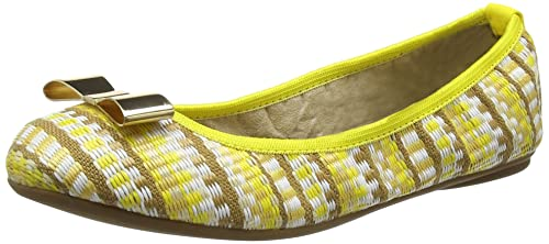 Womens Chloe Basketweave Closed Toe Ballet Flats, Lemon Tree Butterfly Twists