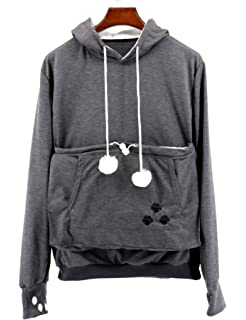 a506f0f78e95 SAIANKE Ladies Hoodies Pet Holder Cat Dog Kangaroo Pouch Carriers Pullover