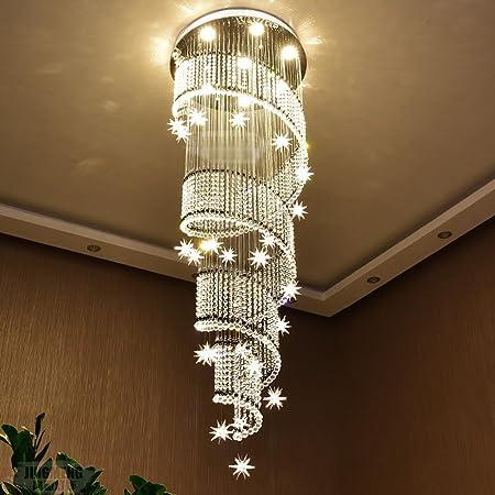 candelabro Yuan JIAN Lámpara De Cristal Moderna Lámpara De Techo A Dos Caras Lámpara De Cristal Escalera Luces Lámparas Villa Lobby Luces Colgantes A++ (Tamaño : C:50 * 180cm): Amazon.es: Hogar