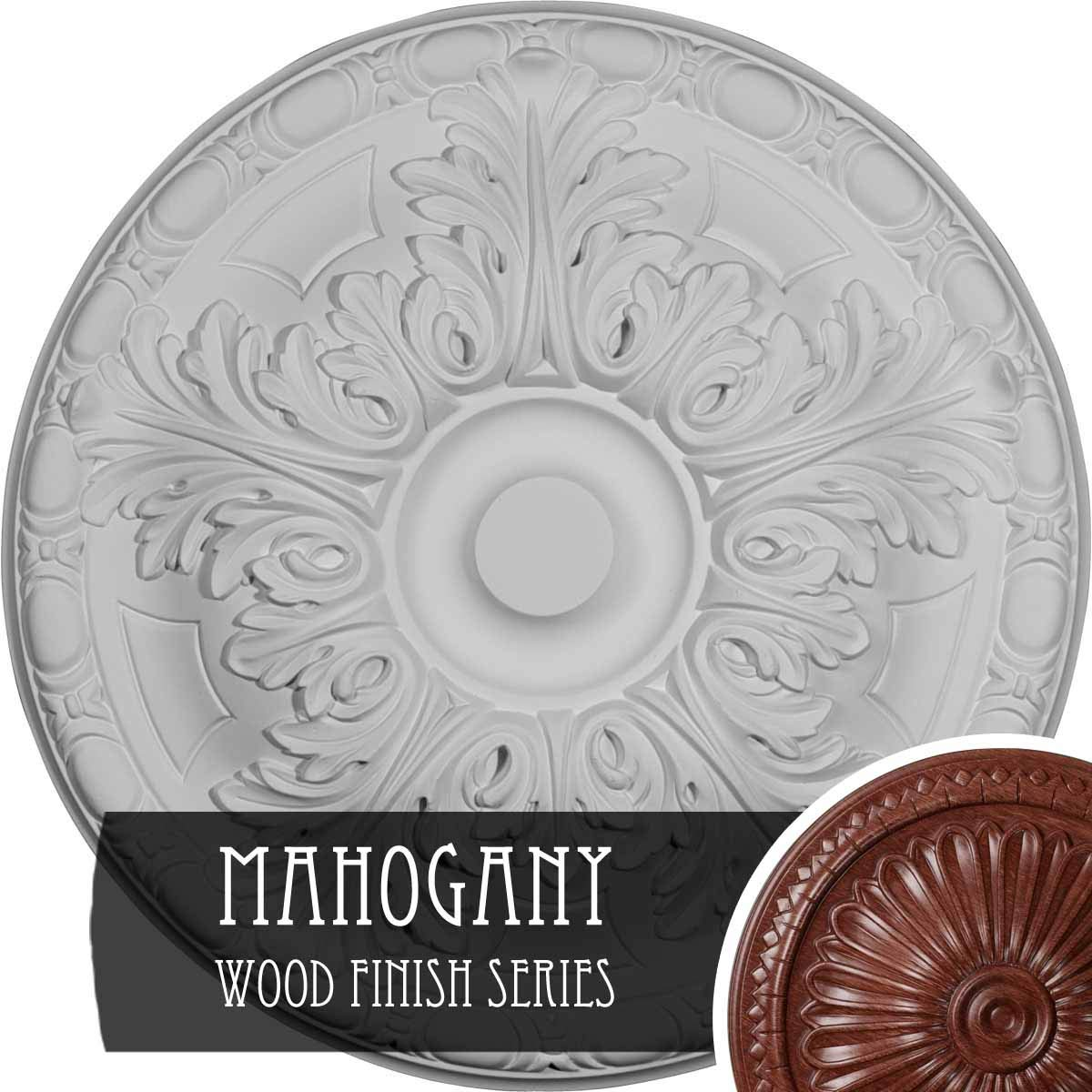 Ekena Millwork CM16GARMS 15 3/4'' OD x 5/8'' P Granada (fits Canopies up to 4 1/4'') Hand-Painted Ceiling Medallion, Red Mahogany