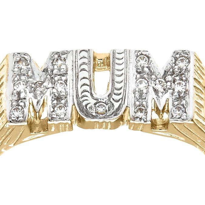 Citerna 9ct Yellow Gold Stone Set Mum Fancy Ring J2kkGLZP