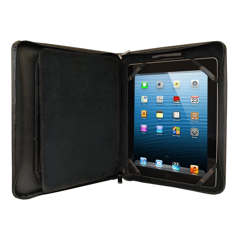 Amazon.com: KHOMO Black Executive PadFolio Case with Notepad Holder ...