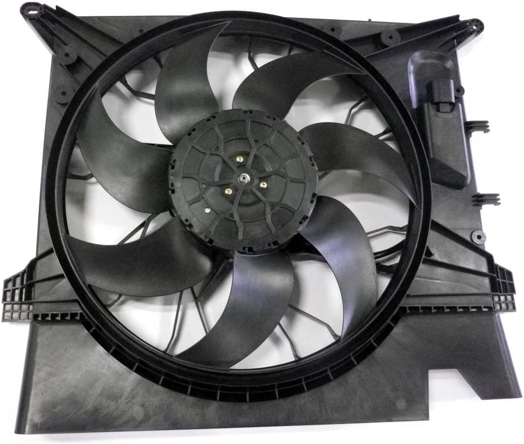 Dual Radiator and Condenser Fan Assembly - Cooling Direct For/Fit VO3115112 03-14 Volvo XC90 WITH Brushless-Motor