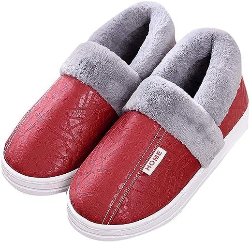 OHQ Zapatillas De Casa Unisex con Forro CáLido Zapatos De JardíN Impermeables para Interiores Y Exteriores Antideslizante: Amazon.es: Zapatos y complementos