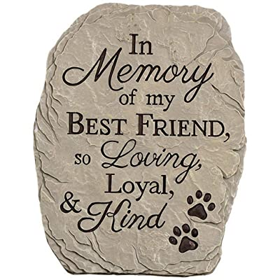 Carson Home Accents Resin Stepping Stone Plaque Memory Of Best Friend : Garden & Outdoor